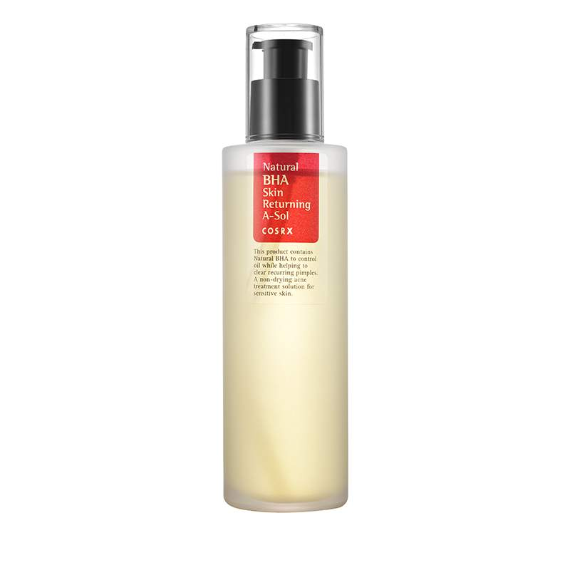 Cosrx Natural BHA Skin Returning A-Sol Toner 100ml Face Skin Care Acne Treatment Clear Recurring Pimples (For Sensitive Skin)