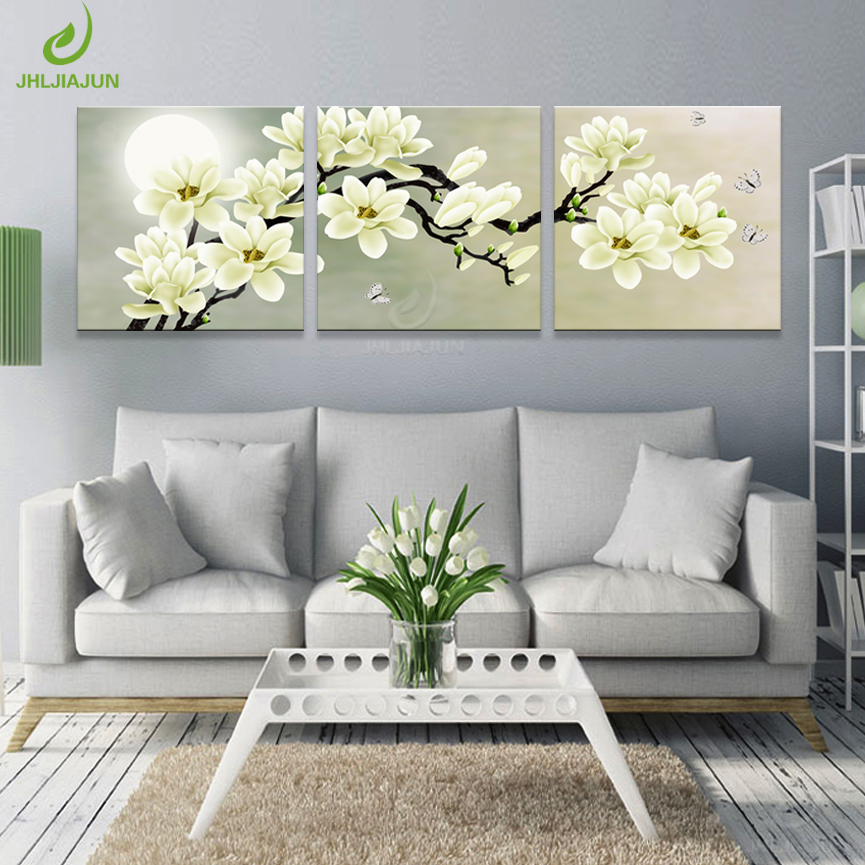 Plum Large Canvas Print of Orchid Flower for Bedroom 1116