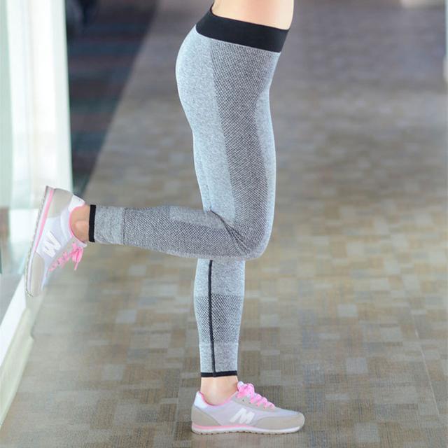 Nuevo 2016 Polainas de Las Mujeres Elásticos de la Alta Cintura Slim Fit entrenamiento estiramiento de La Manera de Las Mujeres Ocasionales Pantalones Tren Fuera Desgaste mujeres Leggins