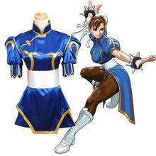 Dress anime street fighter chun li cosplay lolita girls dress