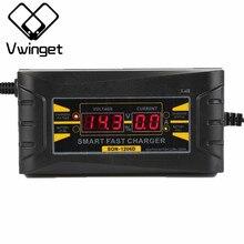 12 В 6A автомобиля Батарея Зарядное устройство 110 В-240 В светодиодный интеллектуальные Дисплей электрический автомобиль Батарея Зарядное устройство США Plug каррегадор де bateria XNC