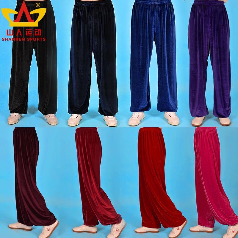 Taichi Pants Martial Art Pants Corduroy Soft Yoga Pants For Training