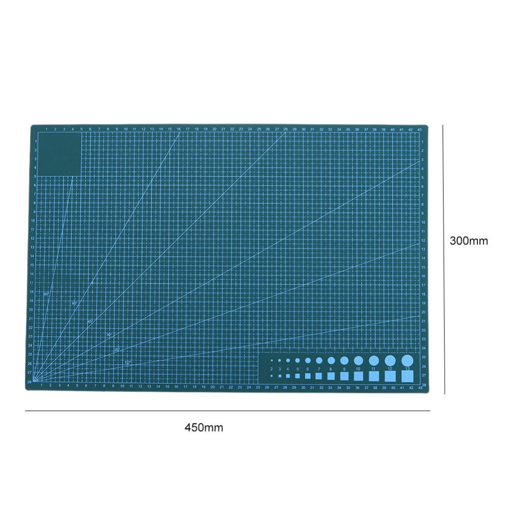 A3 Cutting Mat Pvc Double Side Self Healing Non Slip Diy