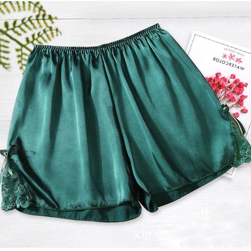 Summer Women Satin Silk Sleepwear Bottoms Shorts 2018 Ladies Cute Homewear pyjama Pajama Sleeping Underwear pijama femme mujer