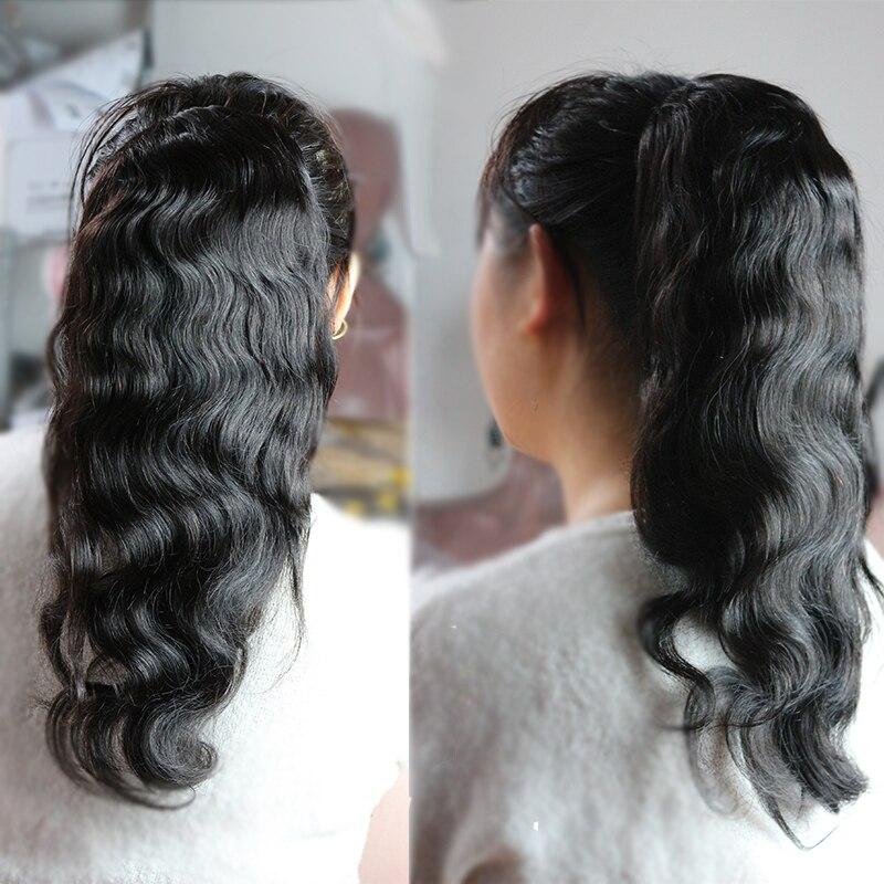 Clip de vague de corps noir naturel dans les Extensions de cheveux humains mongol Remy cheveux Double trame