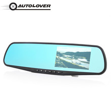 Autolover PZ452-A 4.3-Inch Automobile Car DVR 1080P Rearview Mirror Dash Cam With LCD Screen Design Support Night Vision