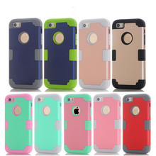 Shockproof Protect Hybrid Hard Rubber Impact Armor Phone Cases For iPhone 5/5S/5C/SE/6/6S Plus/Cover