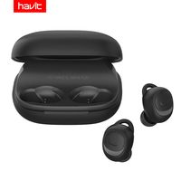 HAVIT TWS Mini Wireless Earbuds In ear Bluetooth Earphone V5.0 Sport IPX5 Waterproof with 2200mAh Box Rechargeable Headset I93
