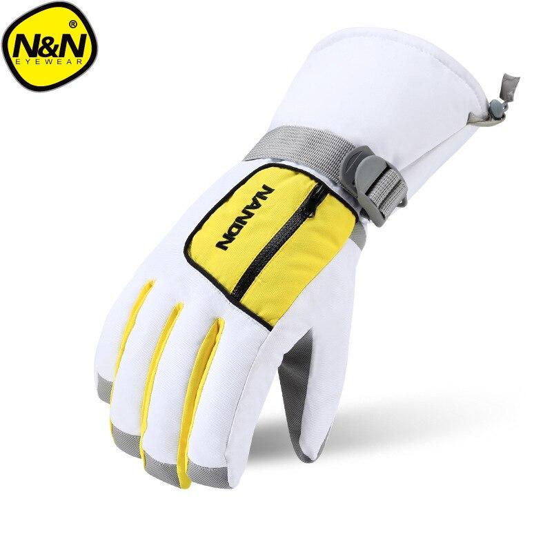 Nandn Winter Children Parent Men Women Outdoor Skiing Snowboarding Mountaining Warm Breathable Windproof Waterproof Gloves