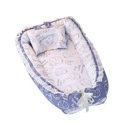 Bawełna szopka miękkie dziecko narzuta na materac na łóżko Protector Cartoon noworodka pościel dla łóżeczko|Materace|Matka i dzieci -