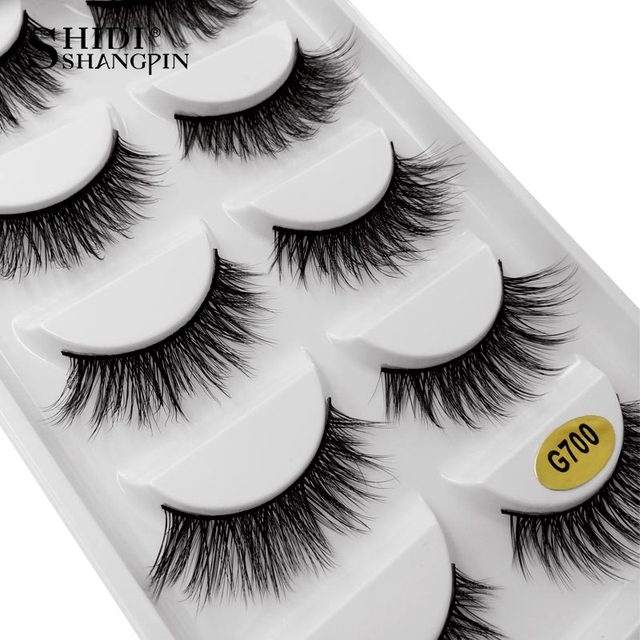 7f39a73b497 SHIDISHANGPIN 5 pairs eyelashes hand made 3d mink lashes natural long mink  eyelashes full strip lashes