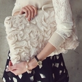 O Envio gratuito de moda de nova Personalizado embreagem Alta qualidade Mulheres Europeia tendência saco envelope saco de embreagem Retro doce flor do laço