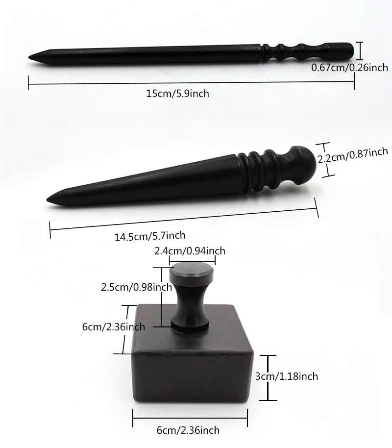Blackwood Leather Edge Slicker Burnisher Wooden Craft Tools Durable