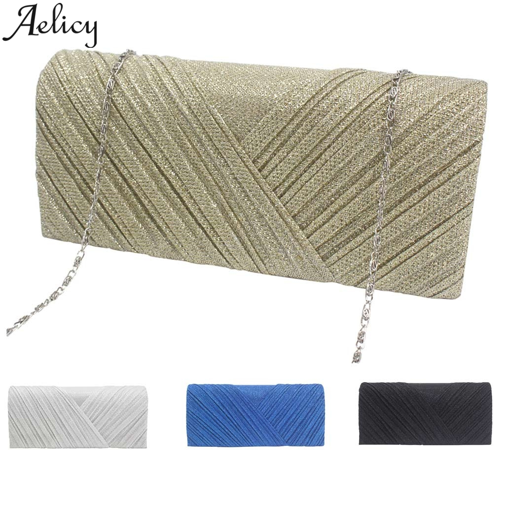 Aelicy 2019 Fashion Women Solid Ruched Embroidery Cocktail Party Bag Ladies Tote Phone Bag Evening Clutch bags Luxury Handbags 5
