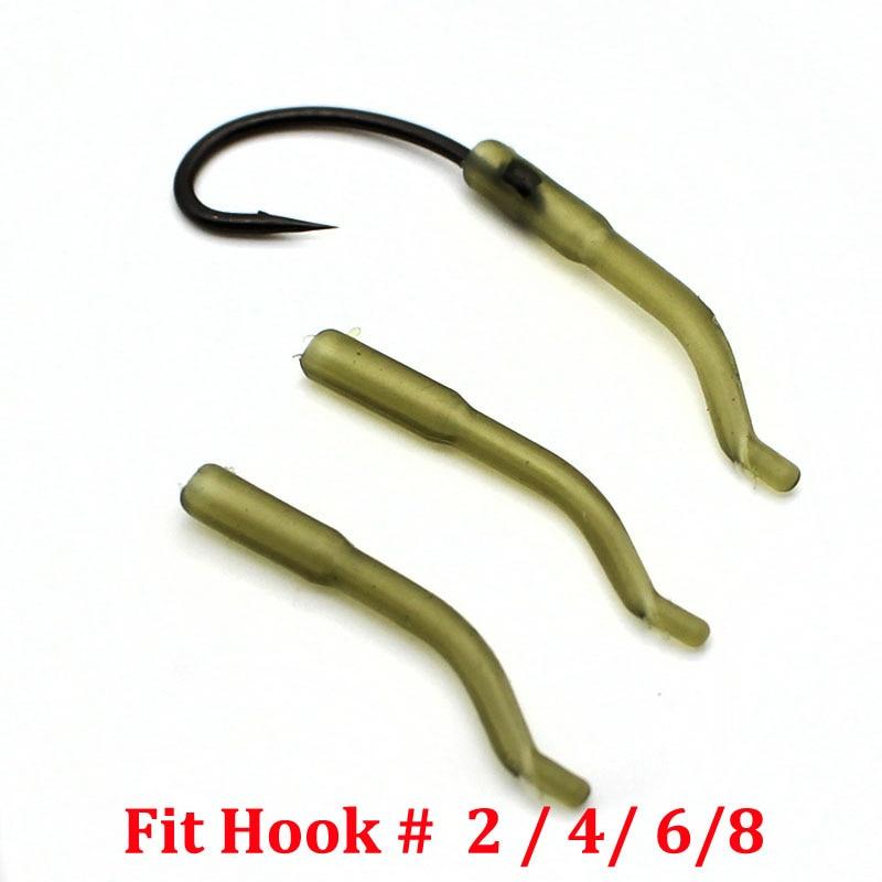 Carp Fishing Hook Sleeves Line Aligner Hook Carp Hair Rig Terminal Tackle 100PCS