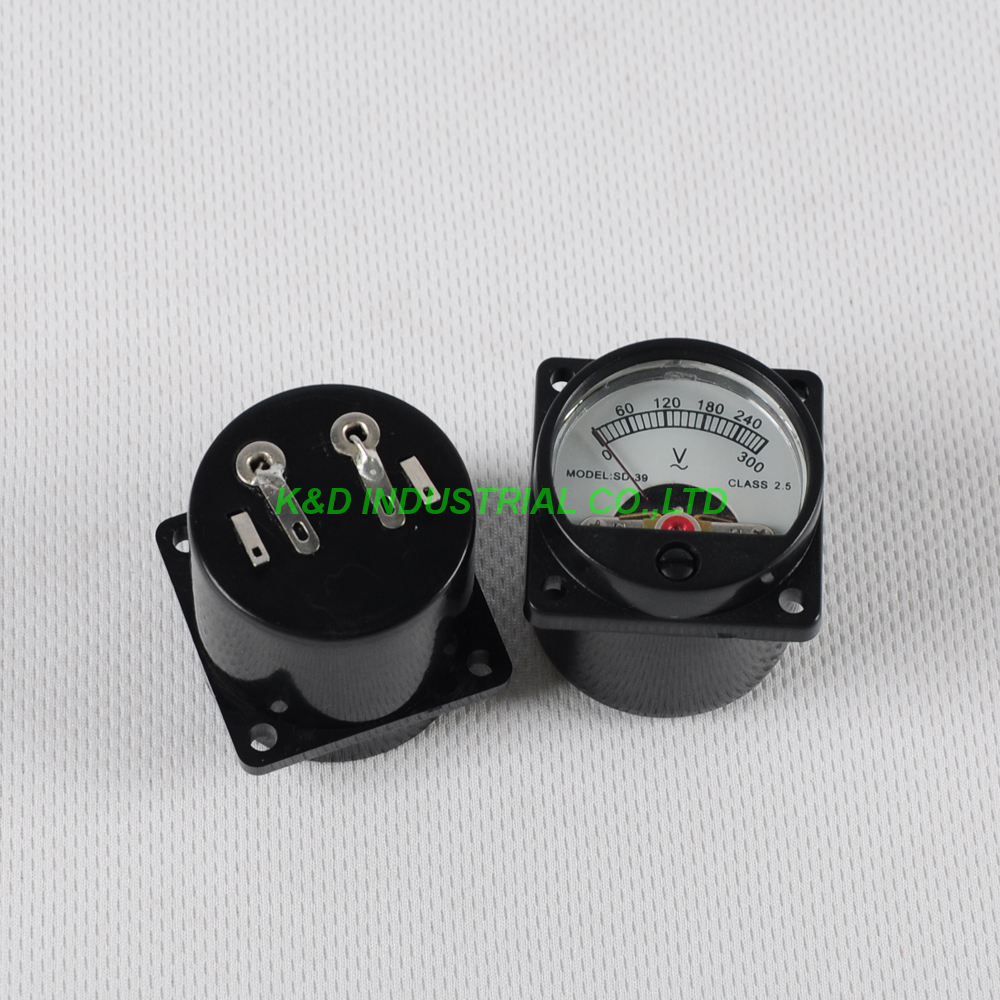 1pc VU 300V AC Panel Meter Warm back Light Tube Amplifier Volt Voltage Voltmeter For 300B 845 in Electrical Plug from Consumer Electronics