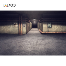 Laeacco Old Factory Pipeline Brick Floor Dim Light Photography Backgrounds Customized Photographic Backdrops For Photo Studio