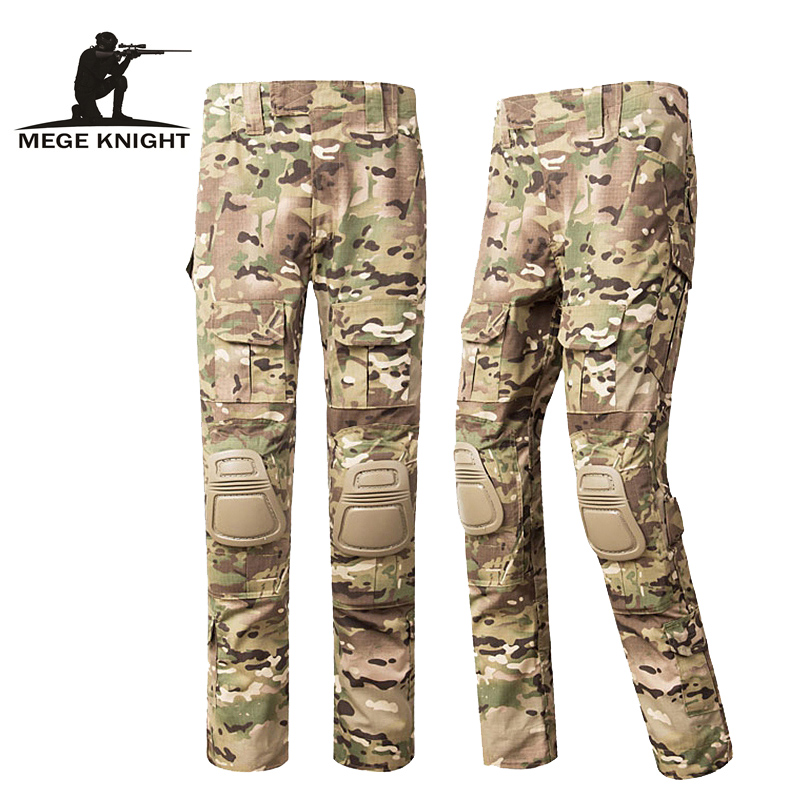 MEGE KNIGHT ATAC FG Camouflage Tactical Military Pants Airsoft Painbal US Men Army Cargo Trouser Combat