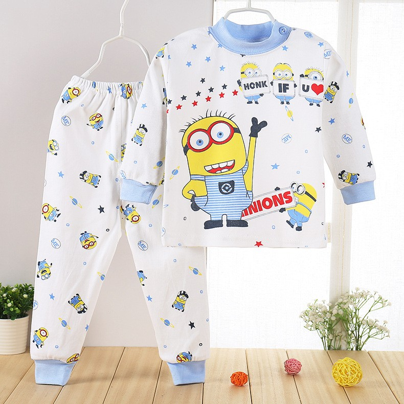 ФОТО 2016 year of the monkey baby boy clothes leisure cotton suit minions clothing boys baby girl clothes 2pcs/ suit  clothing set
