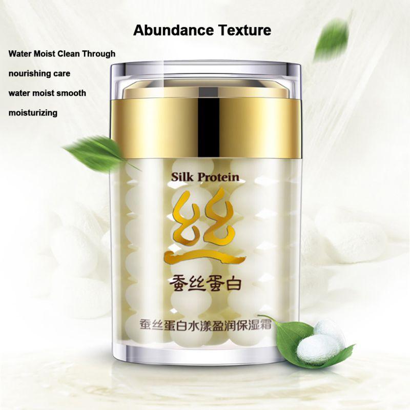 Silk Protein Deep Moisturizing Face Cream Shrink Pores BIOAQUA Brand Skin Care Anti Wrinkle Cream Face Care Whitening Cream V2