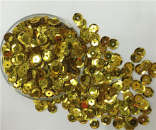 Free shipping  30g(1000pcs)wholesale 8mm Cup Round Dark Gold color loose sequins Paillettes sewing Wedding craft DIY