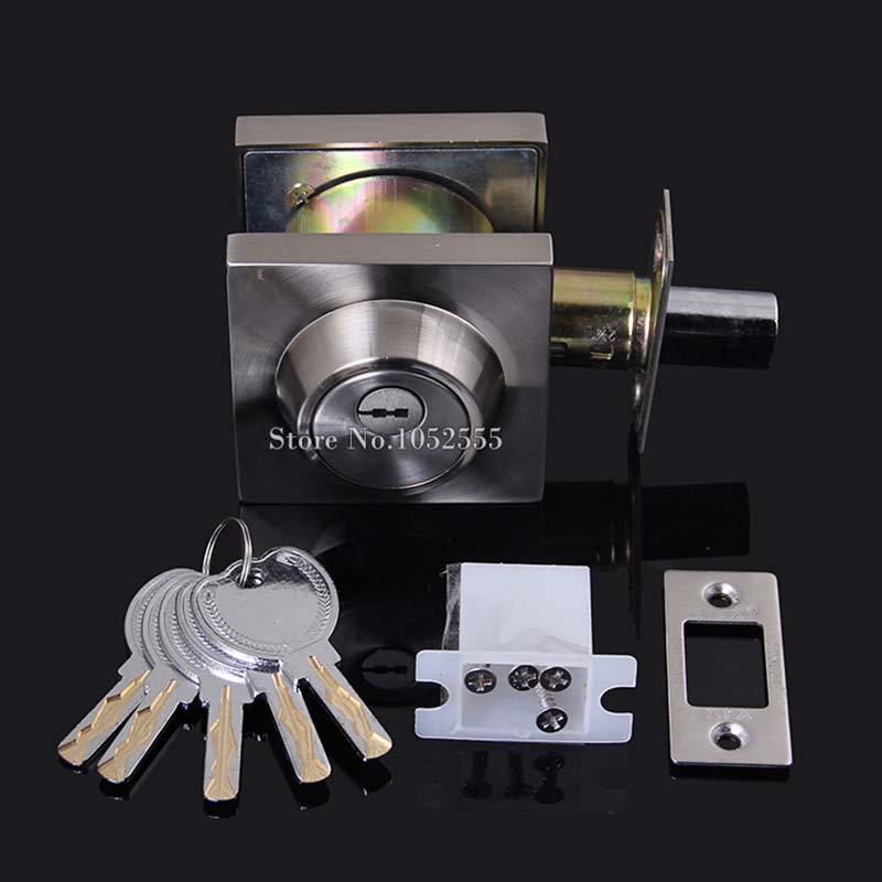High Quality C-level Mortice Znic Alloy Door Lock Invisible Door Lock Bathroom Room Door Deadbolt + 5 Keys Security Lock K118 new original ifs204 door proximity switch high quality