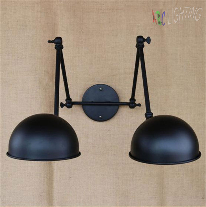 Aliexpress Com Buy Double Swing Arm Wall Lights Bedside