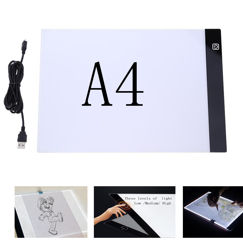 Diamond Painting A4 Luminescent Panel Cross Stitch A4 LED Light Tablet Ultrathin 3.5 Drawing Tracing Tracer Copy Board Table Pad
