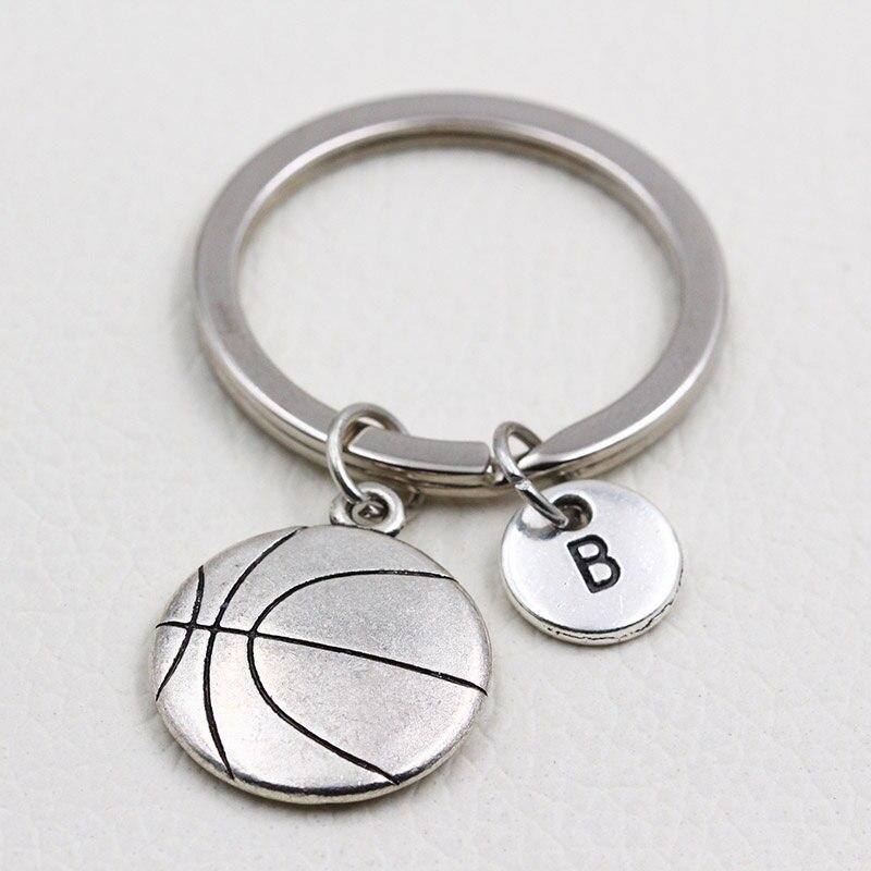 2019 New Fashion Jewelry I Love Basketball Keychain/Personalized A To Z Letters Key Chain Keyrings/Boyfriend Gift