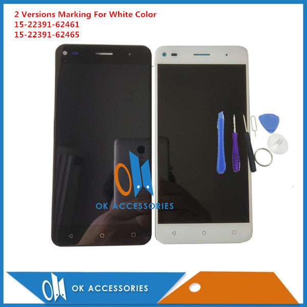 Black White Color For Fly Cirrus 4 FS507 FS 507 LCD display + Touch Screen Digitizer High Quality With Tools 1PC/Lot