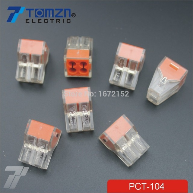20 pcs PCT 104 Push wire wiring connector For Junction box 4 pin ...
