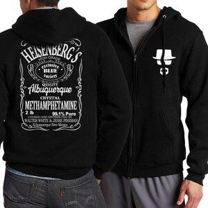 Image 4 - Hip Hopผู้ชายHoody Heisenbergตัวอักษร 2019 ฤดูใบไม้ผลิฤดูใบไม้ร่วงแจ็คเก็ตผู้ชายซิปHoodiesแบรนด์เสื้อผ้าเสื้อTracksuits