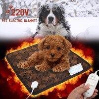 Haustier Matte Elektrische Heizkissen Sicher 45x45 CM 20 Watt Decke Bett Indoor Outdoor Welpen