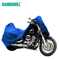 Blue L Size Motorcycle Cover Waterproof Dustproof Cover Sportster Touring Bike Cruiser For Harley Suzuki Honda Winter Summer