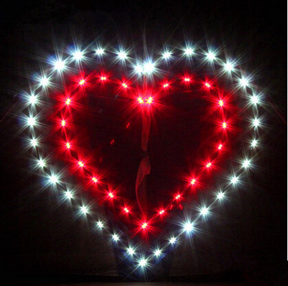 New High quality Outdoor Fun Sports LED Power Love Heart