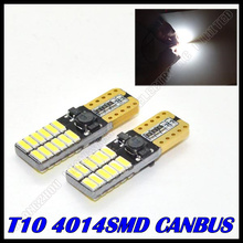 Super Bright! 10 X T10 led 24smd W5W canbus 24led 4014SMD Canbus NO ERROR 12V Car Auto Bulbs Indicator Light Parking Lamps White