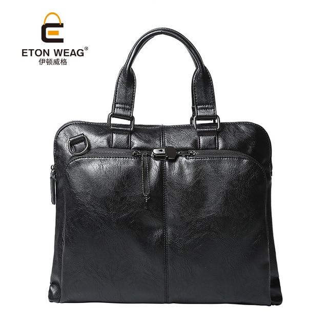 23b0cea69c ETONWEAG Brands Luxury Handbags Women Bags Designer Italian Leather Handbag  Black Luxury Laptop Bag Business Style Shoulder Bag