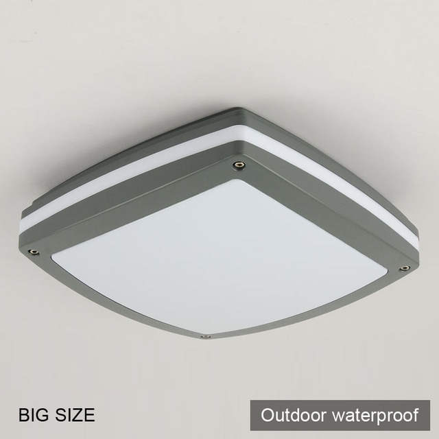 2X big square modern ceiling light lamp bathroom LED outdoor ...