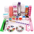 Acrylic Nail Kit Acrylic Liquid Powder Primer Cuticle Oil Dappen Dish Cleaning Brush Glues Buffer Files French tips Nail Set Kit