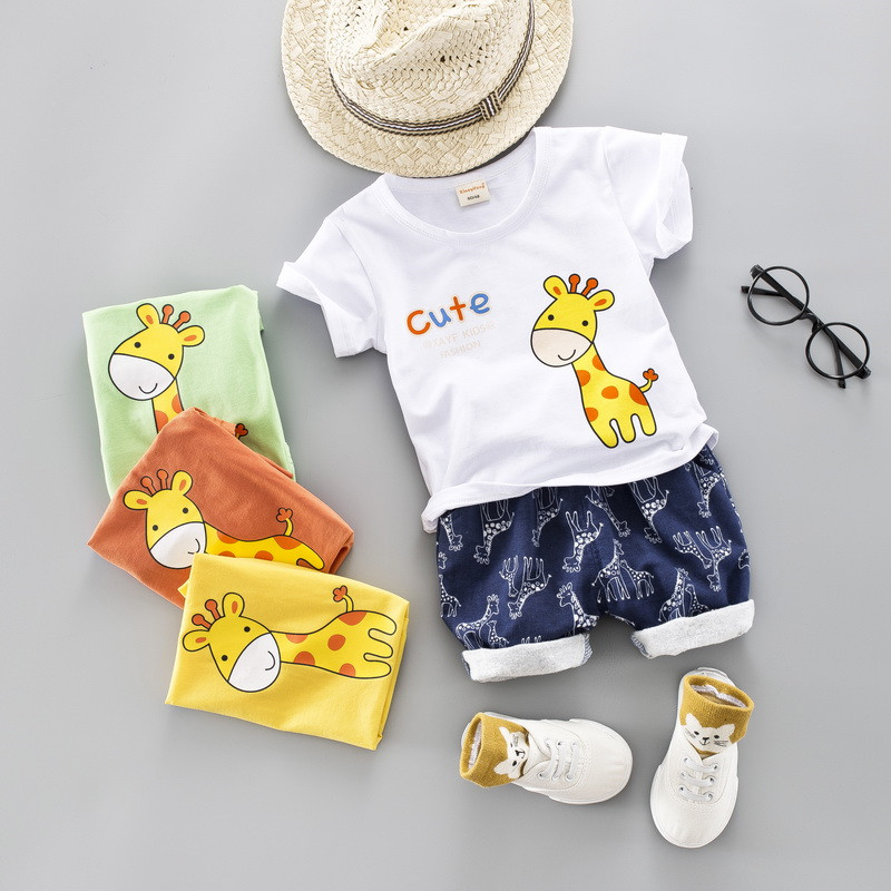 Prime quality boy lady clothes set 2019 summer time new lively informal cute child youngsters child clothes T-shirt+pant 2pcs Clothes Units, Low cost Clothes Units, Prime quality boy lady...
