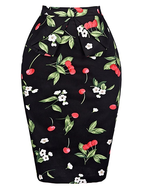 Saia дамы юбка ПР Для женщин Тонкий Встроенная Хип Юбки-карандаши Faldas цветочный Высокая Талия работы Бизнес Повседневное Клубная Для женщин юбка