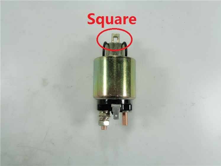 Free Shipping Square Diesel Engine 170F 178F 186F 186FA solenoid switch electric relay starting motor starter motor 170f 178f 186f 188f 192f engine parts the starter motor two choice please check rotation of the starter