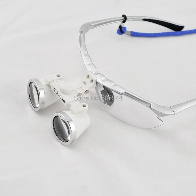 Nova prata 2.5 X Dental Cirúrgica Lupas Binoculares Dentista 320mm + LED Head Light N + F 188040-y8