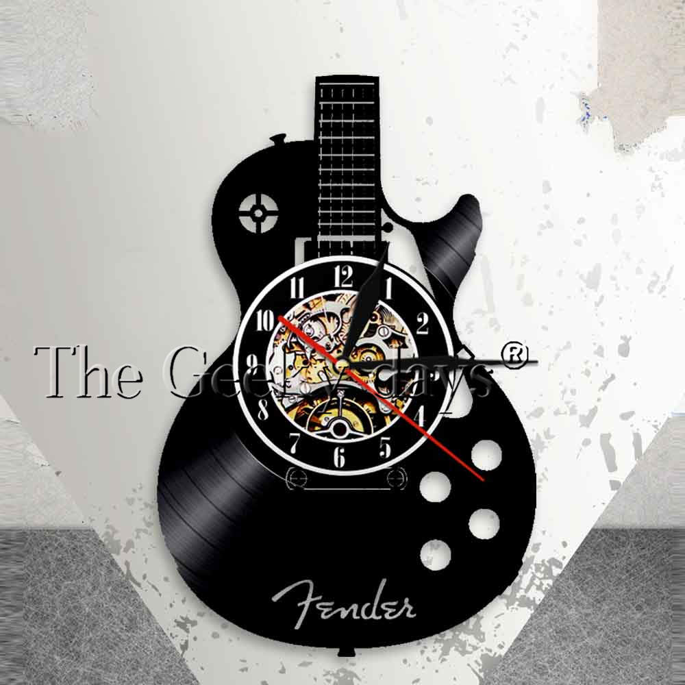 1piece Rock N Roll Music Band Sign Musical Instrument Home Decor Led Hanging Lamp Guitar Led Wall Lamp Vinyl Record Wall Clock Cheapest Price From Our Site Lights & Lighting