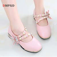 Fashion Children S Shoes Girls Leather Shoes Low Heel Casual Kids High Quality Formal Daily Shoes