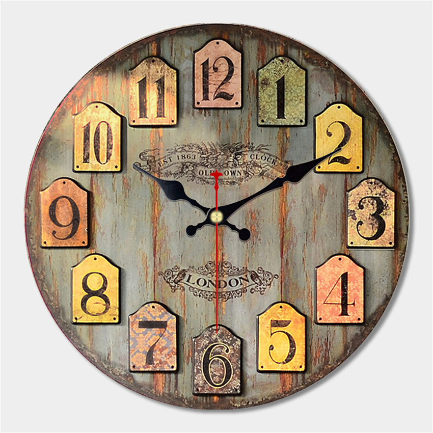 decorative colorful wall clock free shipping worldwide. Black Bedroom Furniture Sets. Home Design Ideas