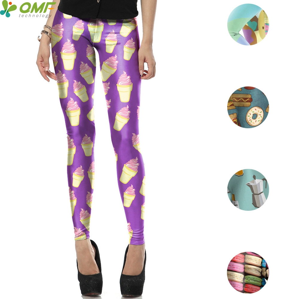 6d87d02a93ae93 Flamingo Ice Cream Cone Womens Yoga Running Workout Shorts Athletic Elastic  Waist Yoga Sports & Outdoors