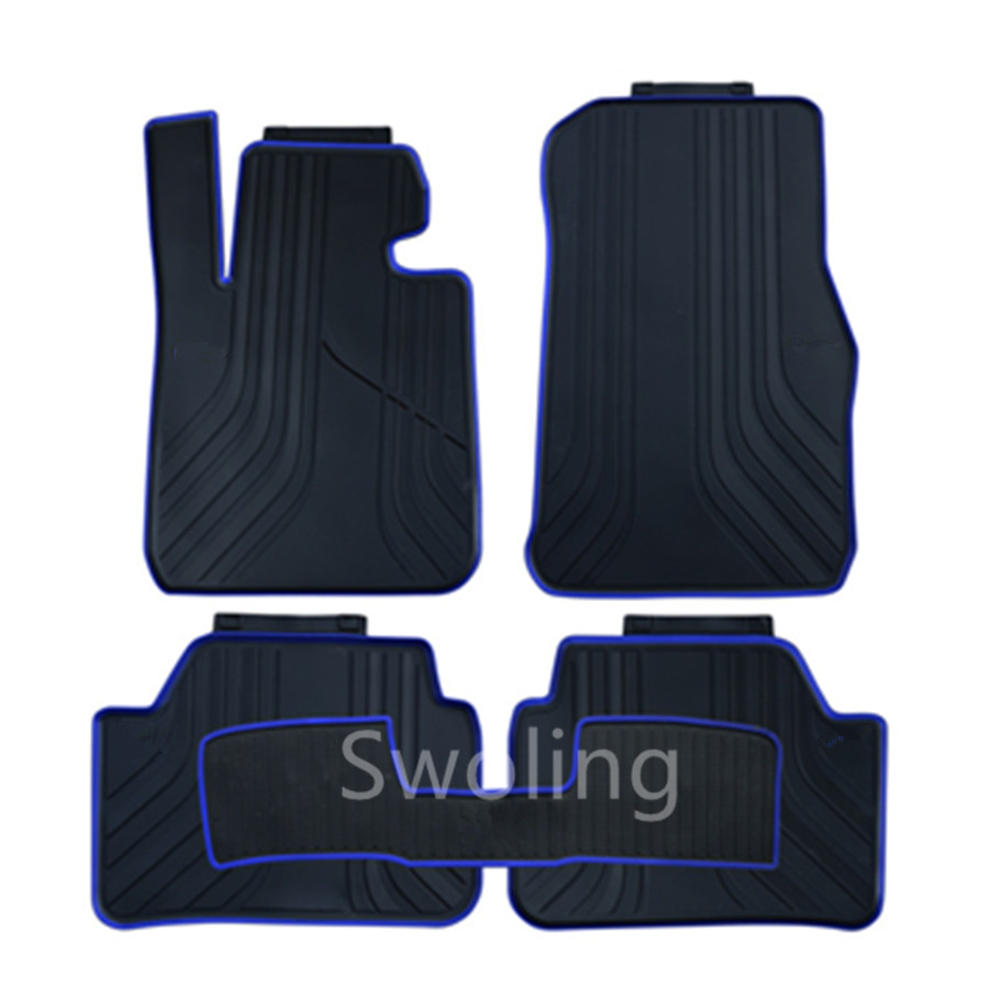 For BMW 1series 116i 118i 120i 2012-2016 High Quality Waterproof Anti Skip Latex Durable Carpets Special Rubber Car Floor Mats