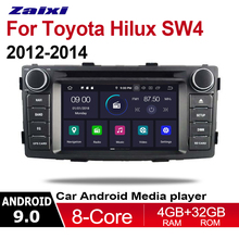 ZaiXi 2din Android 9.0 Octa Core 4GB RAM Car DVD for Toyota Hilux SW4 2012~2014 GPS Radio BT Navi MAP Multimedia player system