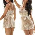 Nueva Mujeres Sexy Vestido de Encaje de la ropa Interior Ropa Interior de La Muñeca ropa de Dormir Escarpada Vestidos de Malla Tanga Camisón